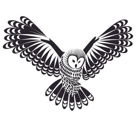 owl vector:  owl bird for mascot or tattoo design  Illustration