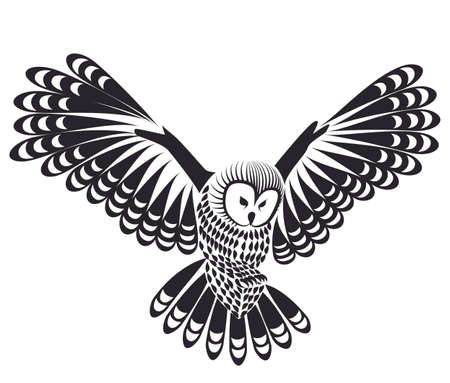owl bird for mascot or tattoo design  Illustration