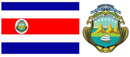 rican: bandera de Costa Rica contra el fondo blanco, ilustraci�n de arte vectorial, la imagen contiene transparencias