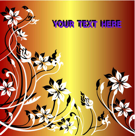 floral background with flowers  Vector
