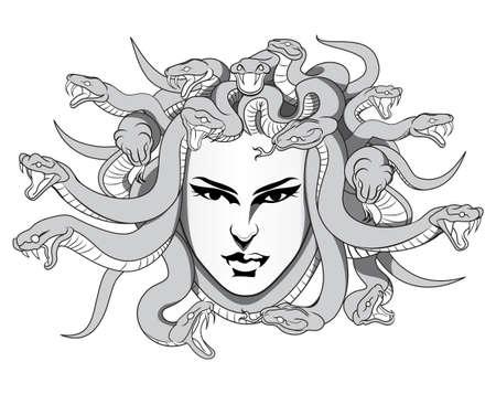 diosa griega: medusa con las serpientes venenosas
