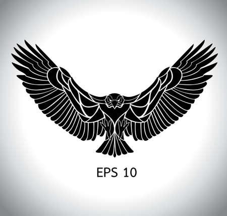 flying eagle vector in eps 10 Illustration