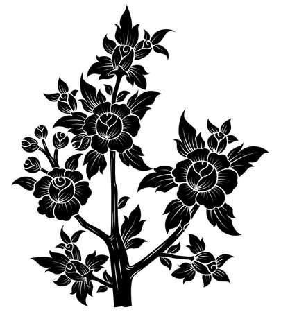 flower isolated on White background Illustration