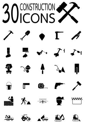 Thirty construction Icons vector in eps10 Vector