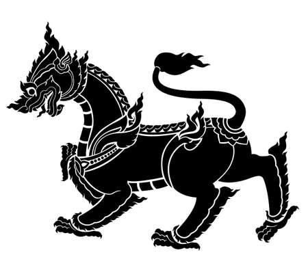 Thai art lion or sigha vector in eps10 format