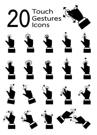 hand touch: Touch pad gestures icons series vector in eps10