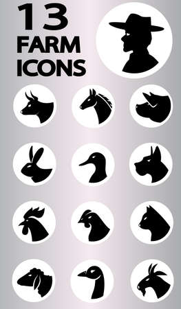 farm icon collection   Vector