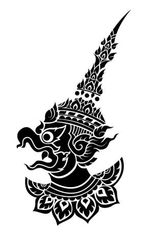 thai tattoo: Garuda, Kings protective bird of south east asia vector  Illustration