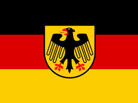 Germany flag with coat of arms  vector in eps 10 Vector