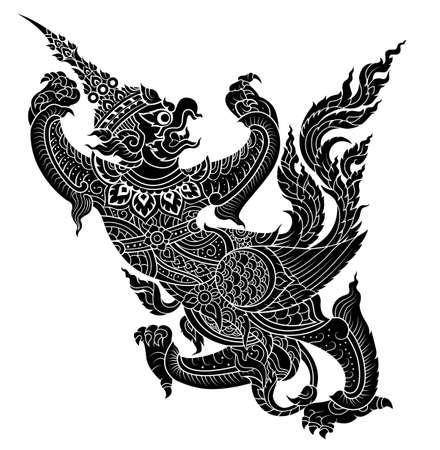 Garuda, King's protective  bird  vector