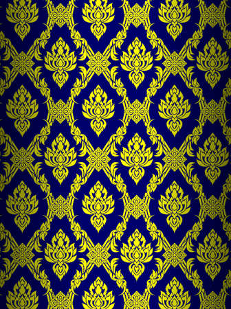 Thai art wall pattern illustrations  Иллюстрация
