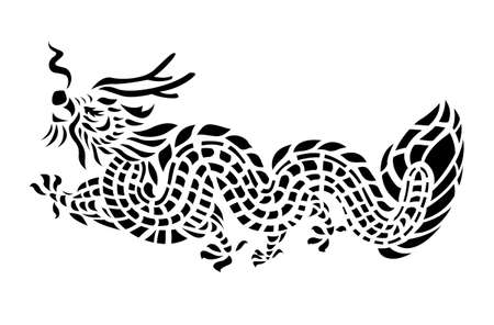 Tattoo Dragon Vector Illustration Vector