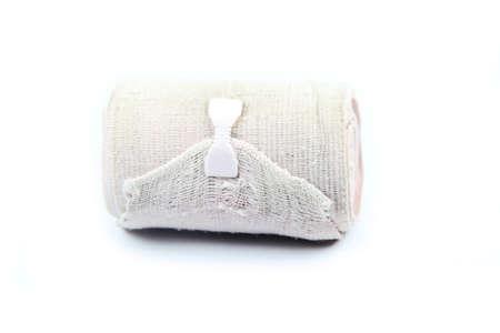 immobilize: Medical bandage roll ,Elastic bandage isolated on white background