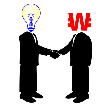 won:  image of handshake between knowledge and Pound money