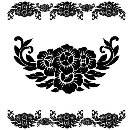 Flower Pattern Decoration . Vector Illustration Vector