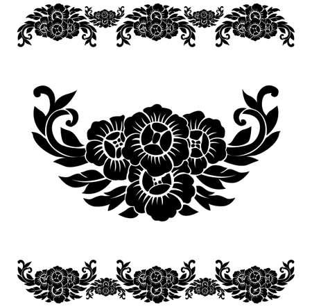 Flower Pattern Decoration . Vector Illustration Vector
