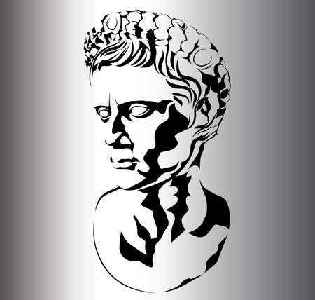 roman sculpture of Augustus Stock Illustratie