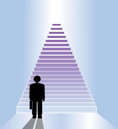 business staircase Vector