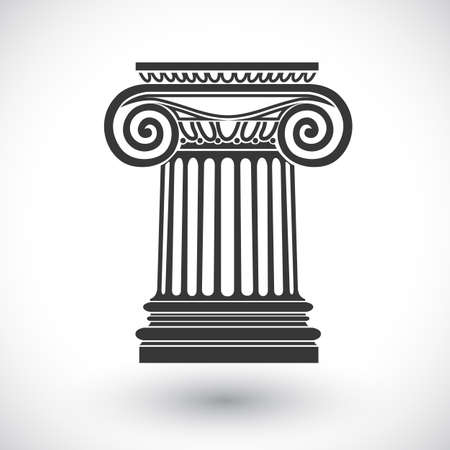doric: architectural background , ionic column , vector drawing