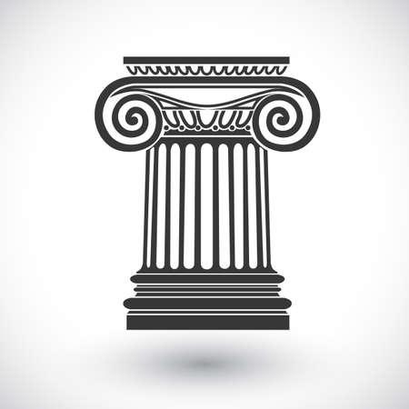 Fond architectural, colonne ionique, dessin vectoriel Banque d'images - 32480896