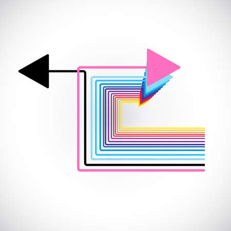 choose a path: tiny black arrows choosing their pathway