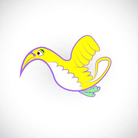 lonely bird cartoon vector Vector