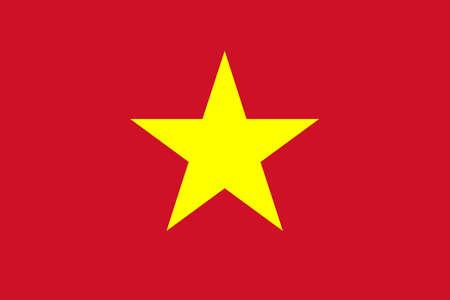 vietnam: Flag of Vietnam Illustration