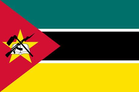mozambique: Flag of Mozambique vector