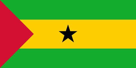 principe: Bandera de Santo Tom� y Pr�ncipe vector