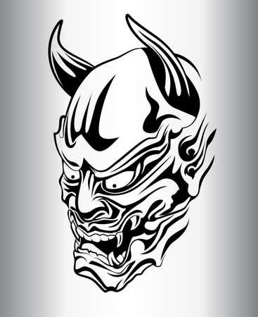 Fantôme japonais, satan, silhouette Banque d'images - 32729083