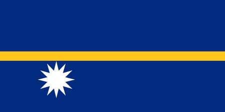 nauru: Flag of Nauru vector Illustration