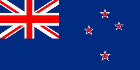 Flag of New Zealand vector in eps10 Vector