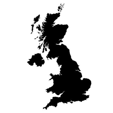 map of United Kingdom  with high details Stock Illustratie