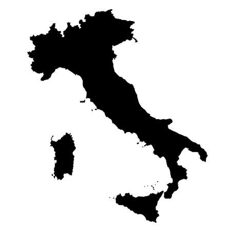 vectormap of map of  Italy  with high details Illustration