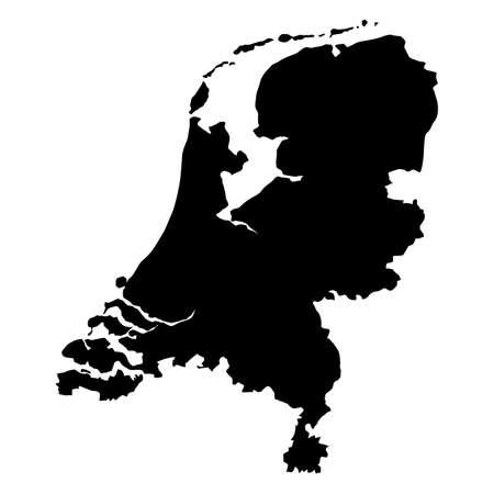 vector map of Netherlands  with high details Ilustração