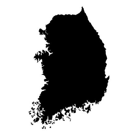 map of South Korea  with high details Vector