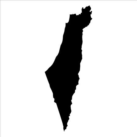 vector map of Israel with high details
