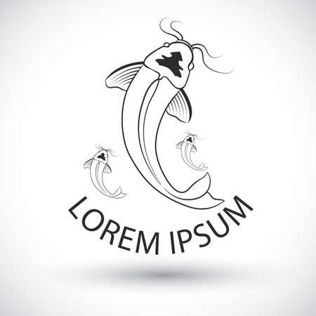 logo poisson: poissons logo Vector