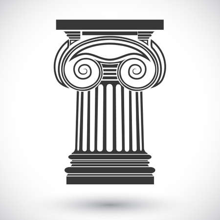 ionic: architectural background , ionic column , vector drawing