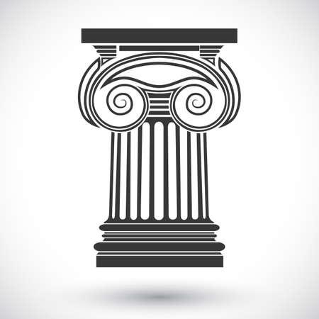 bouwkundige achtergrond, Ionische kolom, vector tekening