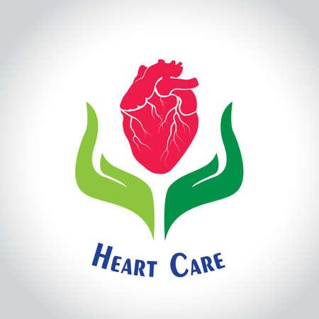 cardioid: cuidar la muestra del corazón - ilustración vectorial