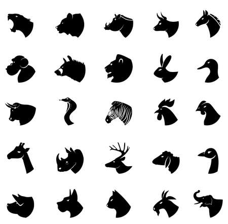 horse cock: Animal silhouette collection