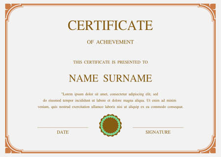 vector eps10: Charming Vector certificate template