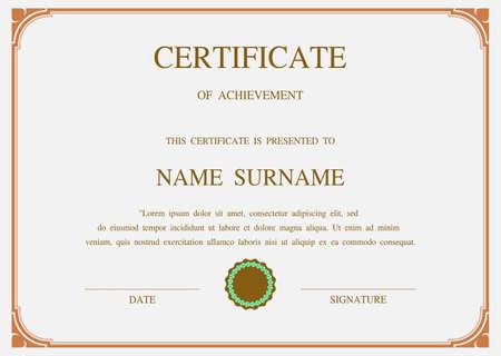 Vecteur de charme modèle de certificat Banque d'images - 46370989