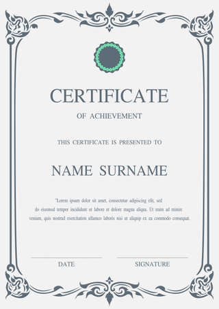 graduate asian: Charming Vector certificate template