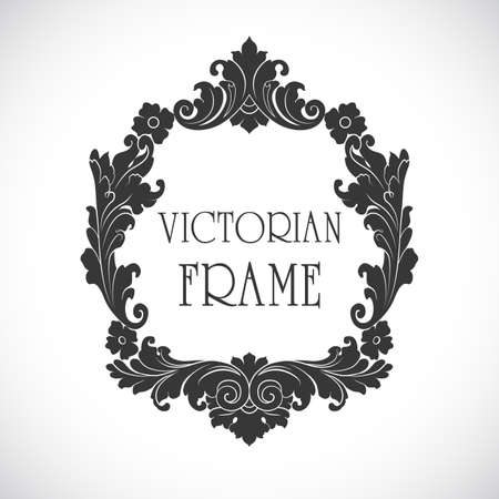 victorian frame: Victorian frame vector