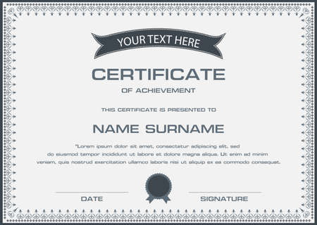 certificate border: Vector certificate template in
