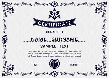 Charming Vector certificate template in eps10