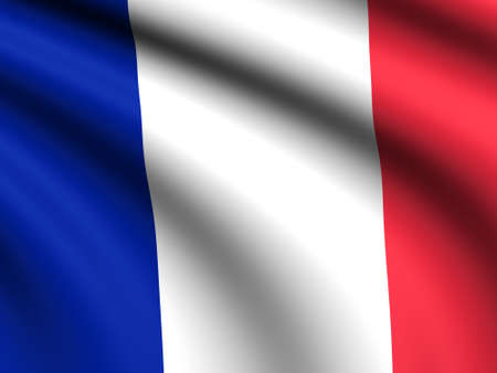 fench: Flag of French blowing in the wind