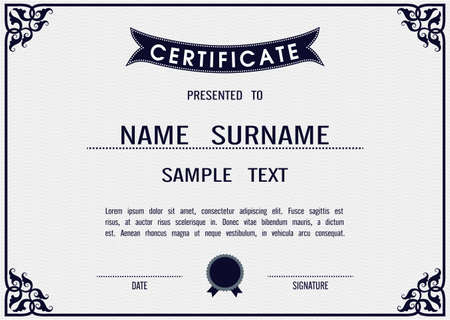 charming: Charming Vector certificate template in eps10